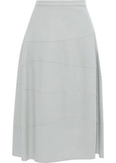 Jil Sander Woman Flared Wool-felt Midi Skirt Stone
