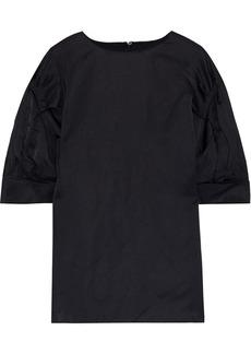 Jil Sander Woman Gathered Broadcloth Blouse Black