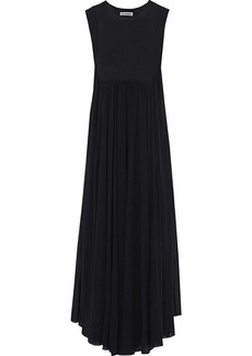 Jil Sander Woman Gathered Stretch-knit Maxi Dress Black