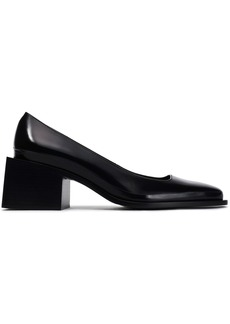 Jil Sander Woman Glossed-leather Pumps Black