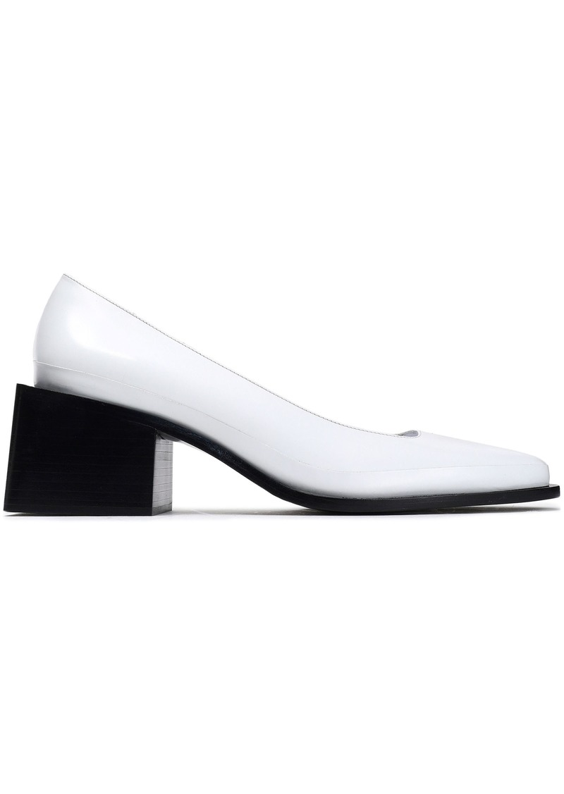 Jil Sander Woman Glossed-leather Pumps White