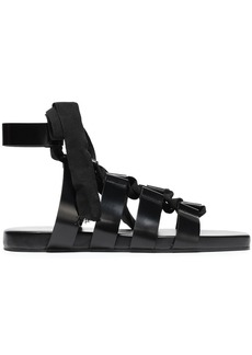Jil Sander Woman Lace-up Leather Sandals Black