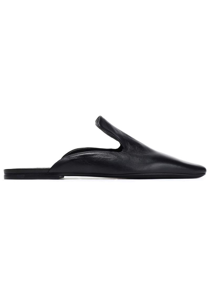 Jil Sander Woman Leather Slippers Black