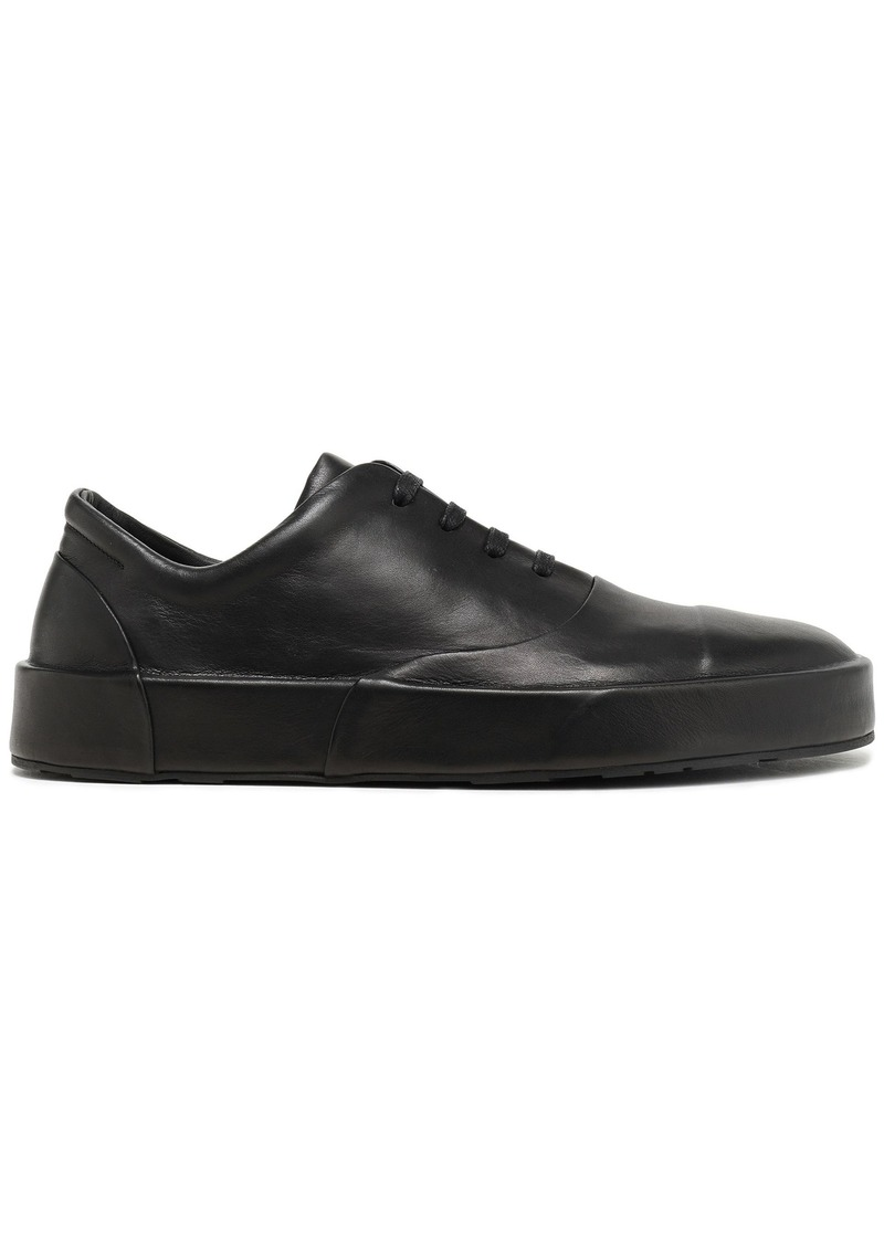Jil Sander Woman Leather Sneakers Black