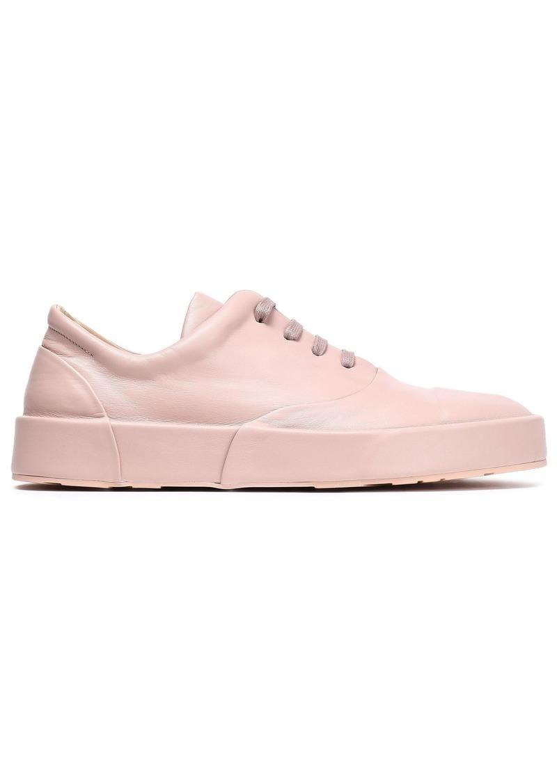 Jil Sander Woman Leather Sneakers Blush