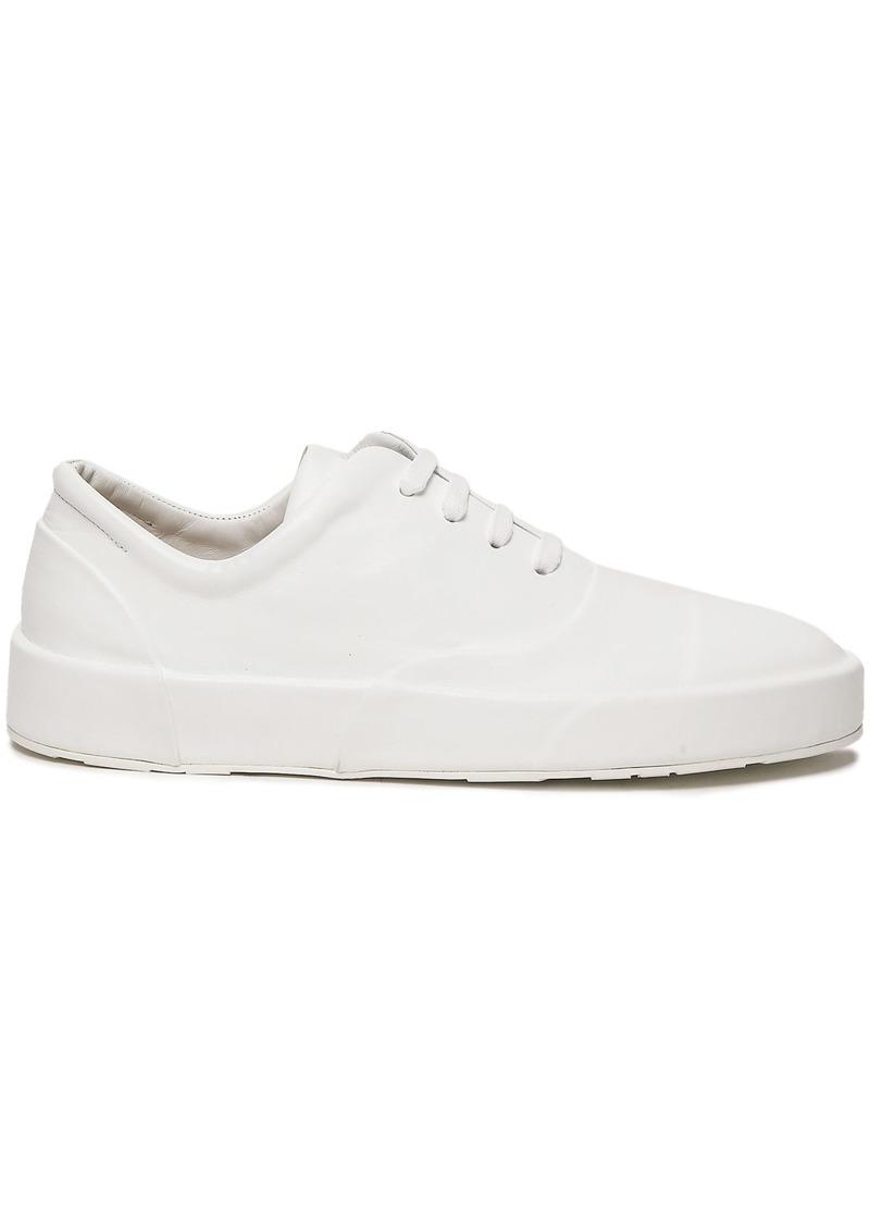 Jil Sander Woman Leather Sneakers White
