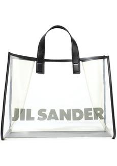 Jil Sander Woman Leather-trimmed Printed Pvc Tote Black