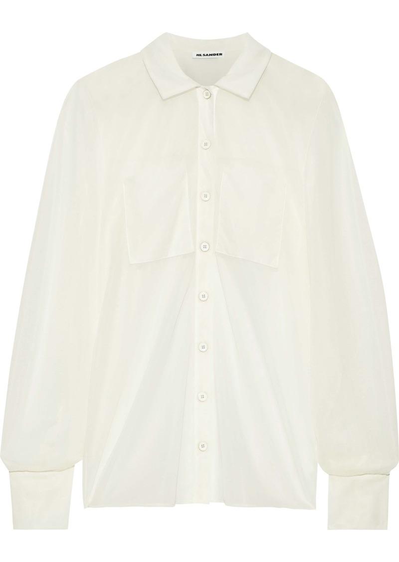 Jil Sander Woman Mesh Shirt Ecru