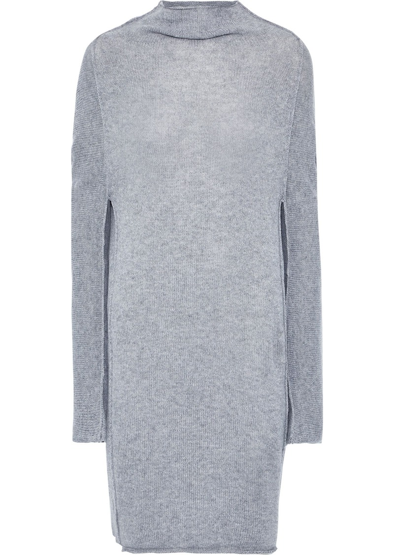 Jil Sander Woman Mélange Cashmere Mini Dress Gray