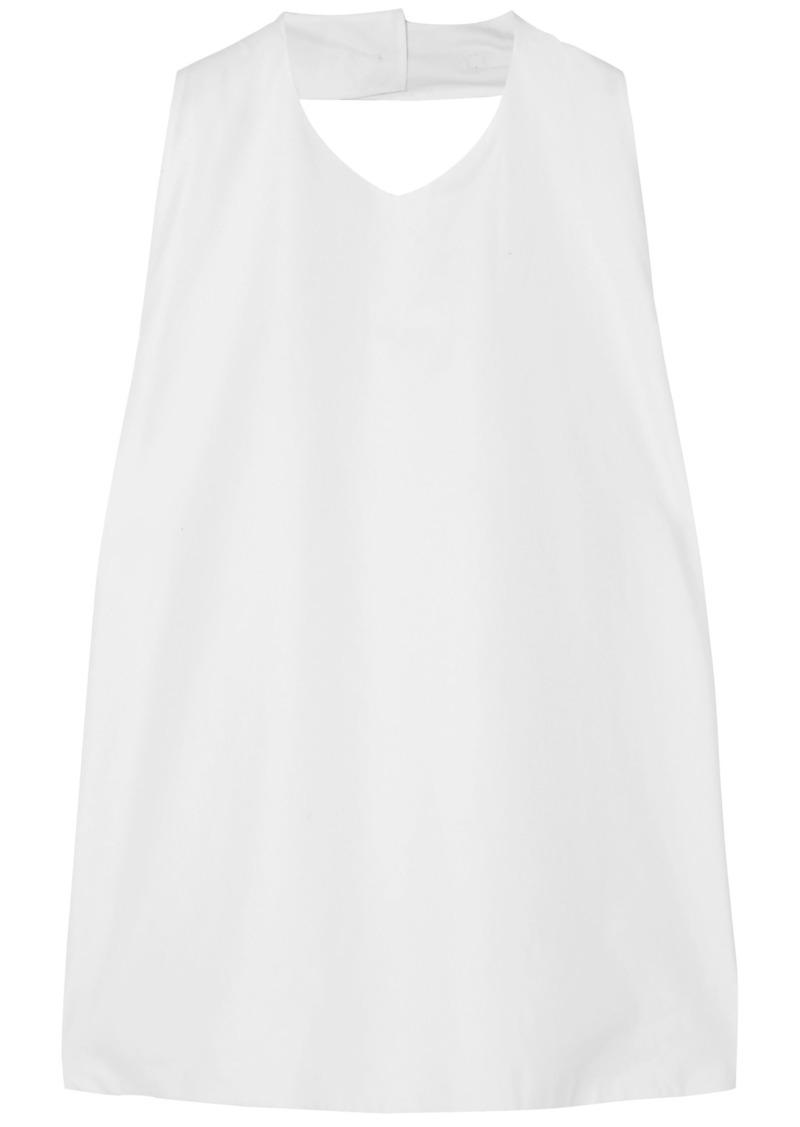 Jil Sander Woman Open-back Cotton-poplin Halterneck Top White
