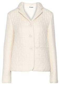 Jil Sander Woman Organza-appliquéd Wool And Silk-blend Jacket Ivory