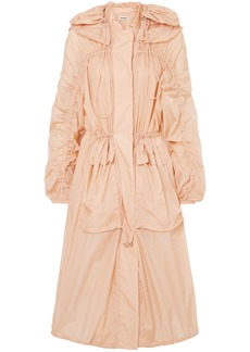 Jil Sander Woman Oversized Hooded Shell Jacket Peach