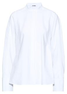 Jil Sander Woman Oversized Pleated Cotton-piqué Shirt White