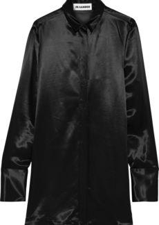 Jil Sander Woman Satin Tunic Black