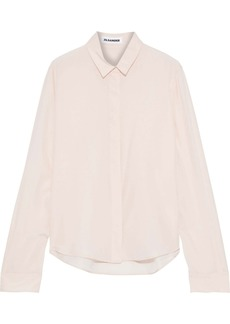 Jil Sander Woman Silk Crepe De Chine Shirt Blush