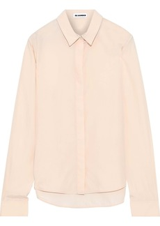 Jil Sander Woman Silk Crepe De Chine Shirt Peach