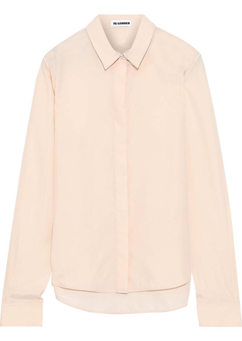 Jil Sander Woman Silk Crepe De Chine Shirt Peach