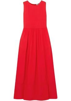 Jil Sander Woman Silk-crepe Maxi Dress Red