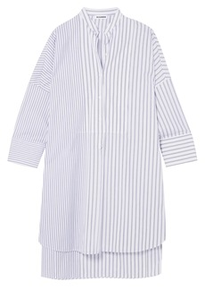 Jil Sander Woman Striped Cotton Tunic White