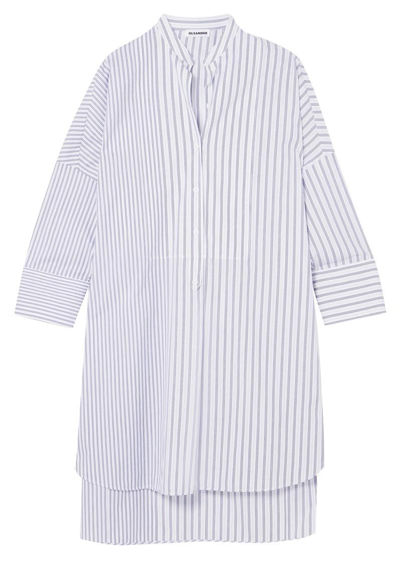 Jil Sander Woman Striped Cotton Tunic White