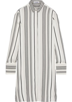 Jil Sander Woman Striped Silk-poplin Shirt Dress Ivory