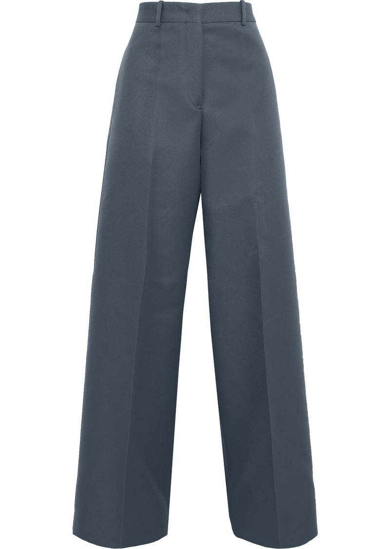 Jil Sander Woman Twill Wide-leg Pants Storm Blue
