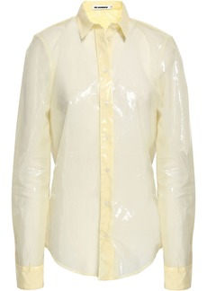 Jil Sander Woman Vinyl Shirt Pastel Yellow