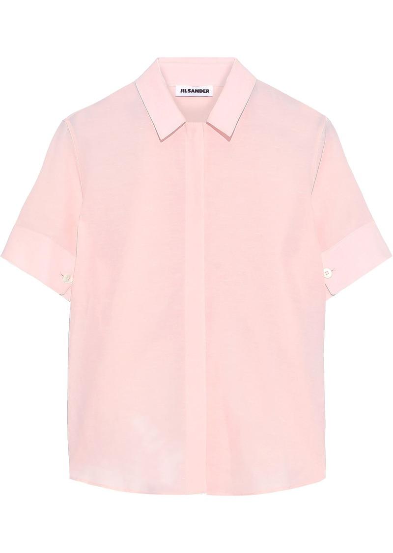 Jil Sander Woman Voile Shirt Blush