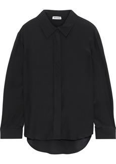 Jil Sander Woman Washed-silk Shirt Black