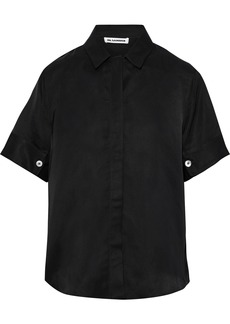 Jil Sander Woman Washed-twill Shirt Black