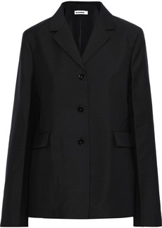 Jil Sander Woman Wool And Mohair-blend Jacket Black
