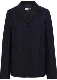 Jil Sander Woman Wool And Mohair-blend Jacket Midnight Blue