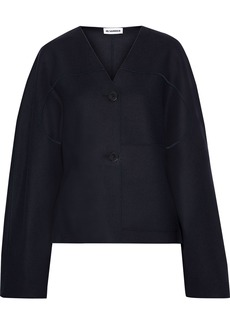 Jil Sander Woman Wool-blend Felt Jacket Midnight Blue