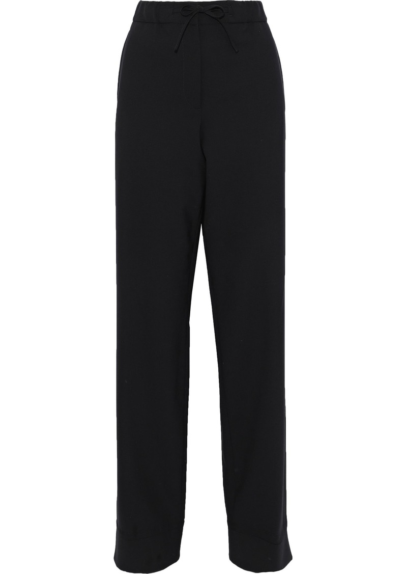Jil Sander Woman Wool-blend Straight-leg Pants Black