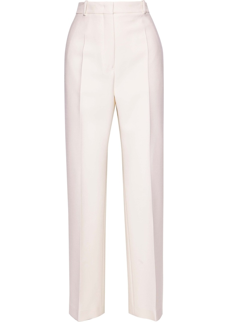Jil Sander Woman Wool-blend Straight-leg Pants Ivory