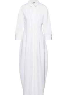 Jil Sander Woman Wool-blend Twill Maxi Shirt Dress White