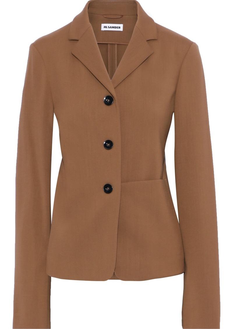 Jil Sander Woman Wool-crepe Blazer Light Brown