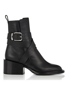 Jil Sander Women's Crisscross-Strap Leather Ankle Boots