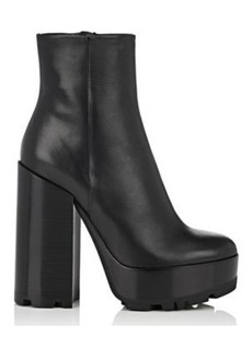 Jil Sander Women's Leather Platform Ankle Boots