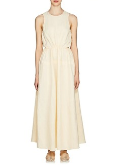 Jil Sander Women's Popover-Back Twill Midi-Dress
