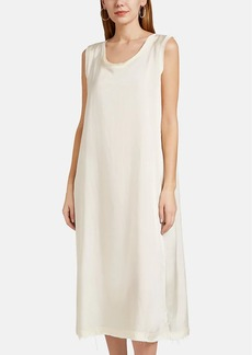 Jil Sander Women's Raw-Edge Sleeveless Slipdress