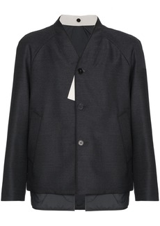 Jil Sander Wool collarless jacket - Grey