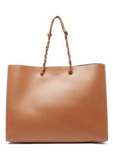 Jil Sander Tangle medium woven-handle leather tote