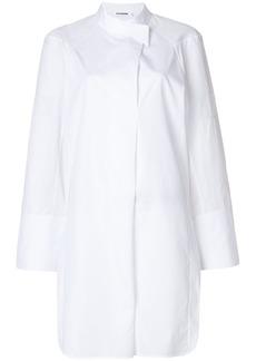 Jil Sander wrap front shirt dress - White