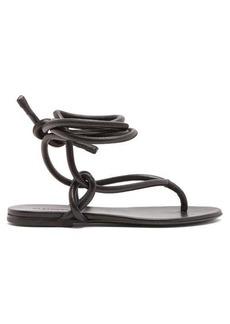 Jil Sander Wraparound ankle strap leather sandals