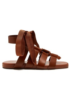 Jil Sander Wraparound gladiator leather sandals