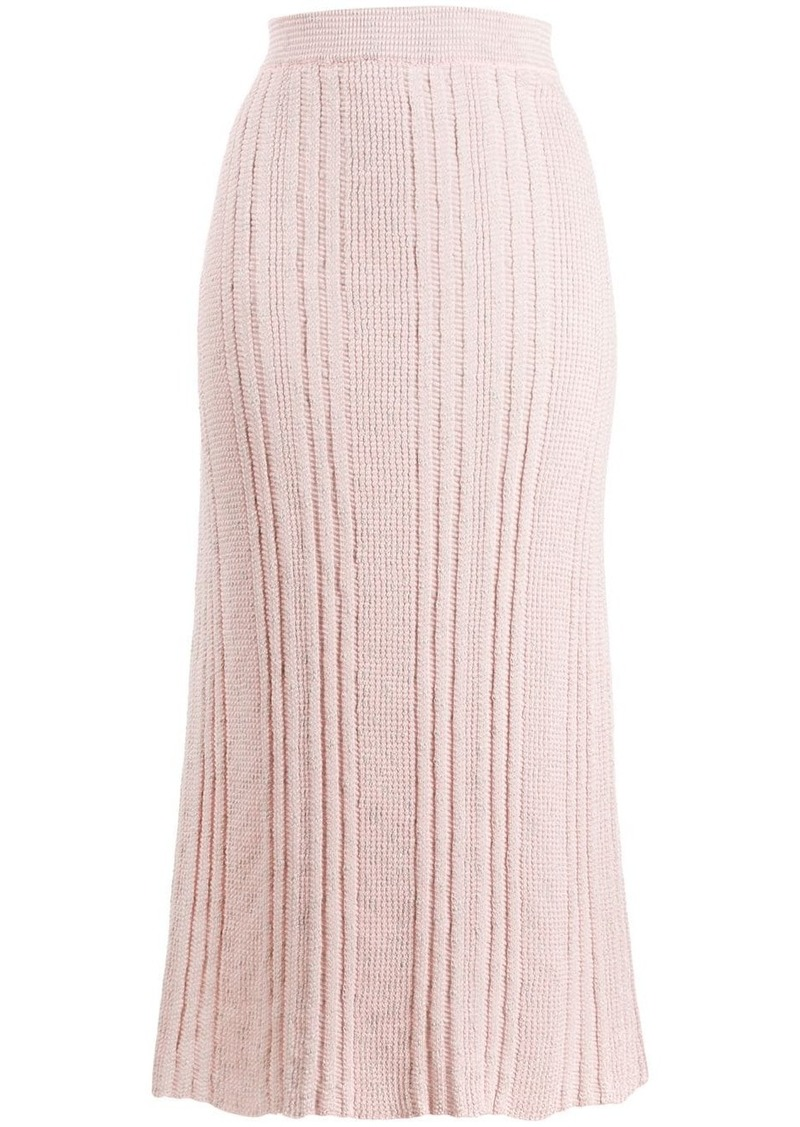 Jil Sander knitted midi skirt