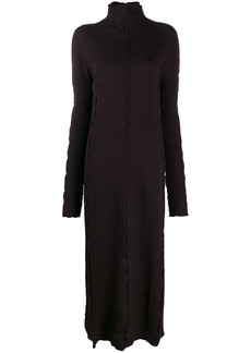 Jil Sander knitted seam detail dress