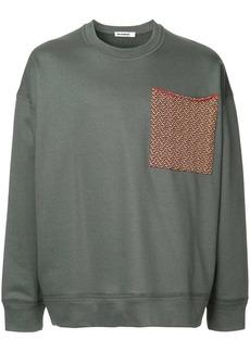 Jil Sander large chest pocket sweatshirt