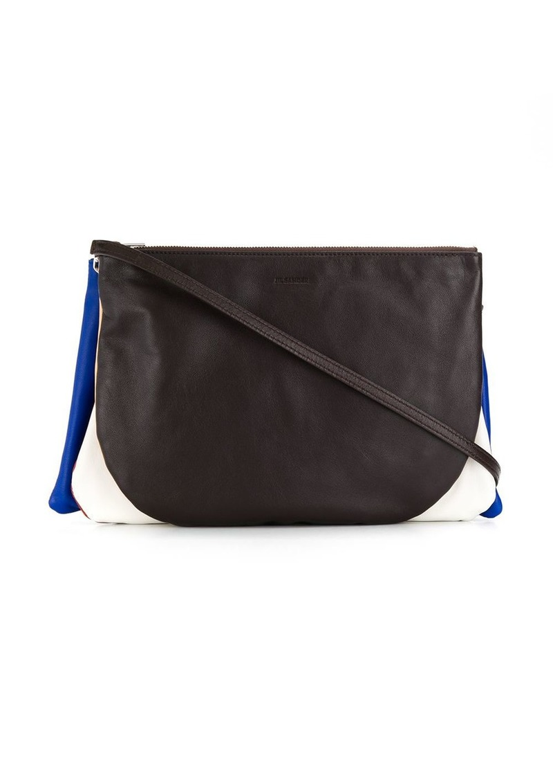 Jil Sander layered colour block crossbody bag